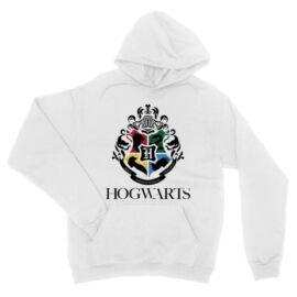 Fehér Harry Potter unisex kapucnis pulóver - Hogwarts Alumni