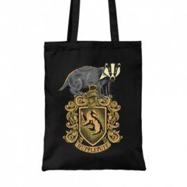 Fekete Harry Potter vászontáska - bevásárlótáska - Hufflepuff