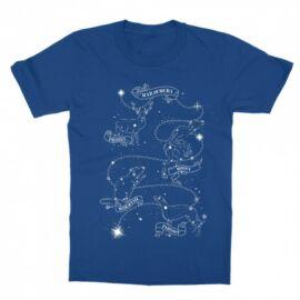 Királykék Harry Potter gyerek rövid ujjú póló - Marauders constellation