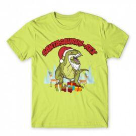 Santasaurus Rex férfi rövid ujjú póló