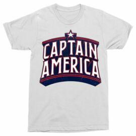 Amerika Kapitány férfi rövid ujjú póló - Retro Logo