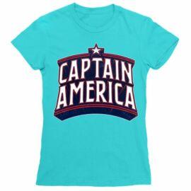Amerika Kapitány női rövid ujjú póló - Retro Logo