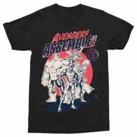 Bosszúállók férfi rövid ujjú póló - Avengers Assemble
