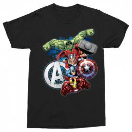 Bosszúállók férfi rövid ujjú póló - Avengers Team