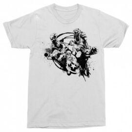 Fehér Bosszúállók férfi rövid ujjú póló - Avengers Team Splash