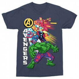 Sötétkék Bosszúállók - Avengers fréfi rövid ujjú póló - Avengers Group