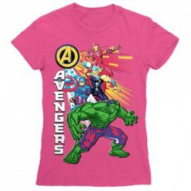 Pink Bosszúállók - Avengers női rövid ujjú póló - Avengers Group