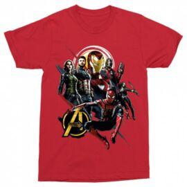 Piros Bosszúállók Férfi rövid ujjú póló - Infinity War