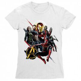 Fehér Bosszúállók női rövid ujjú póló - Infinity War