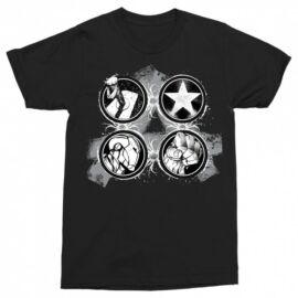 Bosszúállók - Avengers - Férfi rövid ujjú póló - Splatter Logo