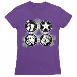 Bosszúállók - Avengers női rövid ujjú póló - Splatter Logo