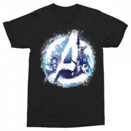 Fekete Bosszúállók - Avengers férfi rövid ujjú póló