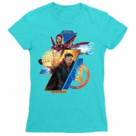 Doctor Strange női rövid ujjú póló - Vasember és Doctor Strange