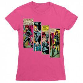 Fekete Özvegy női rövid ujjú póló - Black Widow Comics