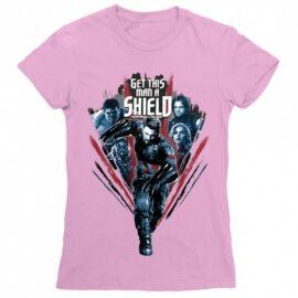 Bosszúállók női rövid ujjú póló - Get this man a Shield