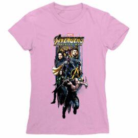 Bosszúállók női rövid ujjú póló - Infinity War Stripe