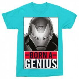 Bosszúállók Vasember férfi rövid ujjú póló - Born A Genius