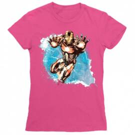 Pink Bosszúállók Vasember női rövid ujjú póló - Watercolor
