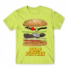 Ponyvaregény férfi rövid ujjú póló - Pulp Fiction burger