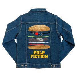 Ponyvaregény unisex farmer kabát - Pulp Fiction burger