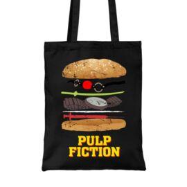 Ponyvaregény vászontáska - Pulp Fiction burger