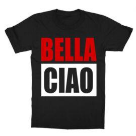 Fekete A nagy pénzrablás gyerek rövid ujjú póló - Bella Ciao