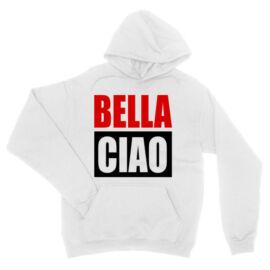 Fehér A nagy pénzrablás unisex kapucnis pulóver - Bella Ciao