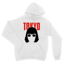 Fehér A nagy pénzrablás unisex kapucnis pulóver- Tokyo
