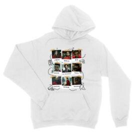 Fehér A nagy pénzrablás unisex kapucnis pulóver - Team hesit photos