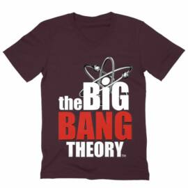 Agymenők férfi V-nyakú póló - The Big Bang Theory Logo