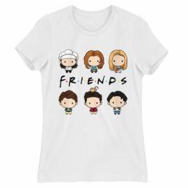 Jóbarátok női rövid ujjú póló - Friends chibi group