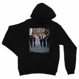 Fekete Jóbarátok unisex kapucnis pulóver - Friends Poster