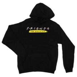 Fekete Jóbarátok kapucnis pulóver - Friends Reunion Logo