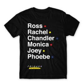 Jóbarátok férfi rövid ujjú póló - Friends Reunion Names