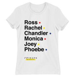 Jóbarátok női rövid ujjú póló - Friends Reunion Names