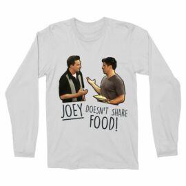 Jóbarátok férfi hosszú ujjú póló - Joey doesn't share food