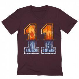 Stranger Things férfi V-nyakú póló - Eleven Numbers