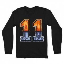 Stranger Things férfi hosszú ujjú póló - Eleven Numbers
