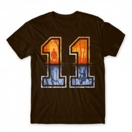 Stranger Things férfi rövid ujjú póló - Eleven Numbers