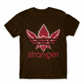 Barna Stranger Things férfi rövid ujjú póló - Stranger Adidas