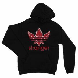 Fekete Stranger Things unisex kapucnis pulóver - Stranger Adidas