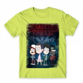 Stranger Things férfi rövid ujjú póló - Stranger Gravity Falls