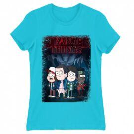 Stranger Things női rövid ujjú póló - Stranger Gravity Falls