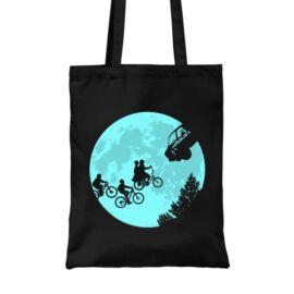 Fekete Stranger Things vászontáska - Stranger Moon