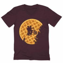 Stranger Things férfi V-nyakú póló - Waffle Moon