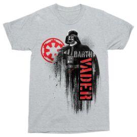 Star Wars férfi rövid ujjú póló - Darth Vader - Sportszürke színben