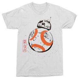 Fehér Star Wars férfi rövid ujjú póló - BB-8