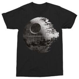 Star Wars Halálcsillag férfi rövid ujjú póló - Fekete színben