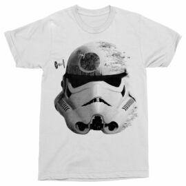 Fehér Star Wars férfi rövid ujjú póló - Rohamosztagos