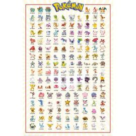 Pokémon plakát - Kanto 151